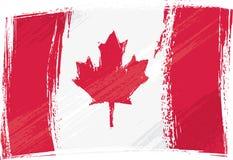 Kanada flaggagrunge Arkivbilder