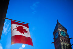 Kanada-Flagge Lizenzfreie Stockbilder