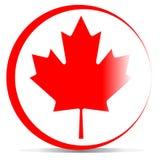 Kanada-Flagge mit Ahornblatt Lizenzfreie Stockfotos
