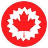 Kanada-Flagge mit Ahornblatt Lizenzfreie Stockfotografie