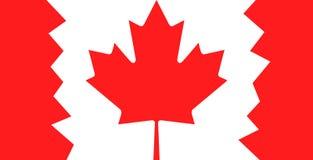 Kanada-Flagge mit Ahornblatt Stockfotografie