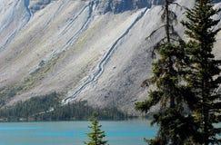 Kanada góry i Lodowiec Nakarmoiny jezioro Wzdłuż Icefields Parkw zdjęcia royalty free