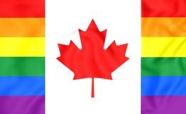 Kanada glad flagga stock illustrationer