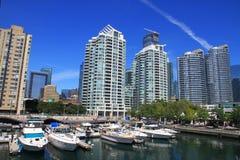 Kanada horisont vancouver Arkivfoton