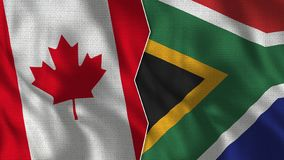 Kanada i Południowa Afryka Przyrodnie flagi Wpólnie ilustracji