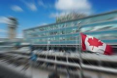 Kanada i rörelsebegrepp Arkivbild