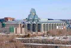 Kanada i stadens centrum gallerinational ottawa Arkivfoto