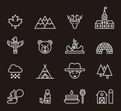 Kanada ikony set Zdjęcia Stock