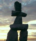Kanada inukshuk Fotografering för Bildbyråer