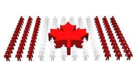 Kanada kanadensiskt flaggafolk Royaltyfri Foto