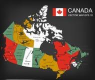 Kanada-Karte mit Provinzen Alle Gebiete sind auswählbar Vektor vektor abbildung