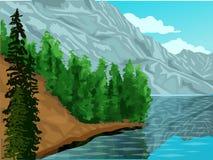 Kanada krajobrazu wektorowa ilustracja - paralaksa skutki ilustracji