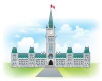 Kanada kullottawa parlament stock illustrationer