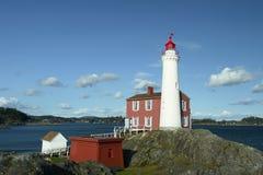 Kanada latarni morskiej BC wyspa zdjęcia stock