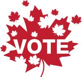 Kanada liść klonowy - głosowanie Fotografia Stock
