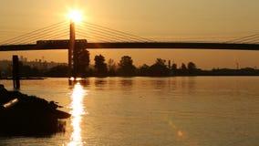 Kanada-Linie Brücke Sun-Zug stock video footage