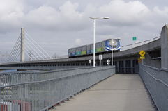 Kanada linje Skytrain transportlinje Royaltyfria Foton