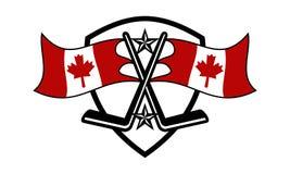 Kanada loga projekta Hokejowy szablon ilustracji