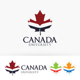 Kanada loga Uniwersytecki wektorowy projekt Obrazy Stock