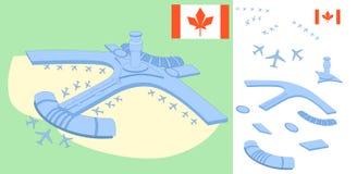 Kanada lotniska - paralaksa skutki ilustracja wektor