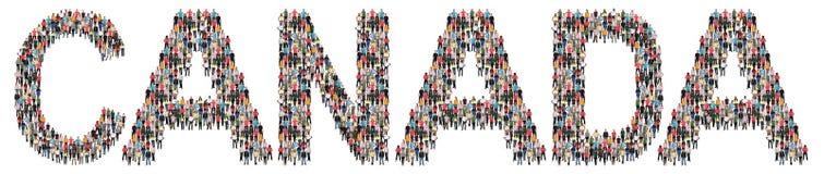 Kanada mång- folkgrupp av folk royaltyfria foton