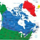 Kanada mapa Fotografia Royalty Free