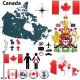 Kanada mapa Fotografia Stock