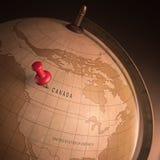 Kanada markerade Arkivfoto