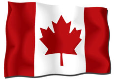 Kanada-Markierungsfahne Lizenzfreies Stockfoto