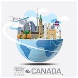Kanada-Markstein-globale Reise und Reise Infographic Lizenzfreies Stockbild