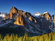 Kanada, natura krajobraz, Banff park narodowy Zdjęcia Stock
