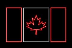 Kanada-Neonmarkierungsfahne Lizenzfreies Stockbild