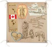 Kanada - obrazki życie, plemiona Zdjęcia Stock