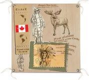 Kanada - obrazki życie, plemiona Obraz Royalty Free