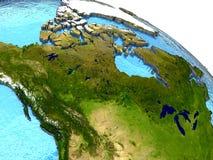 Kanada på jord Arkivfoton