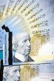 Kanada pengar Arkivbild