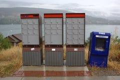 Kanada-Pfosten-Mailboxes Lizenzfreie Stockbilder