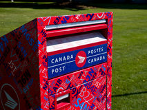 Kanada-Pfostenmailbox Stockfotos