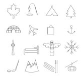 Kanada pictograms Arkivfoto
