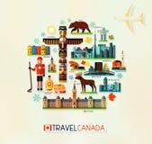 Kanada podróży kolekcja Obraz Royalty Free