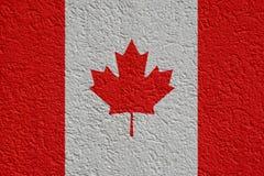 Kanada polityka Lub biznesu pojęcie: Kanadyjczyk flagi ściana Z tynkiem, tekstura obrazy royalty free