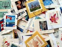 Kanada portostämplar Royaltyfri Fotografi