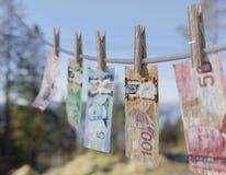 Kanada pranie brudnych pieniędzy Zdjęcia Stock