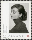 KANADA - 2008: shower Audrey Hepburn 1929-1993, aktris Royaltyfri Foto