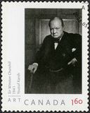 KANADA - 2008: shower Sir Winston Spencer Churchill 1874-1965, politiker Arkivbild