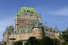 Kanada slottfrontenac quebec Arkivbilder