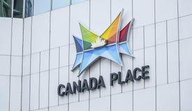 Kanada ställe i Vancouver i stadens centrum - VANCOUVER - KANADA - APRIL 12, 2017 Arkivfoto