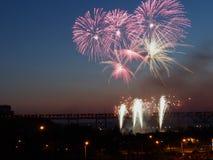 Kanada-Tagesfeuerwerke Lizenzfreies Stockfoto