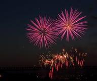 Kanada-Tagesfeuerwerke Stockfotografie