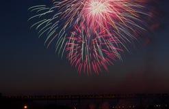 Kanada-Tagesfeuerwerke Lizenzfreies Stockbild